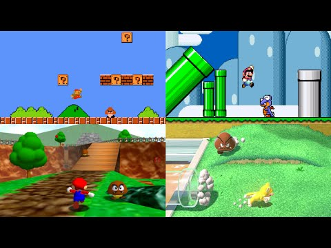 Evolution of First Levels in Mario games