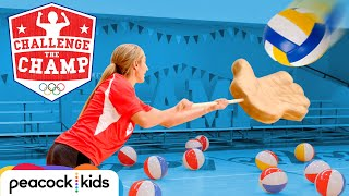 Giant Hands Volleyball Challenge! (ft. Olympian April Ross)