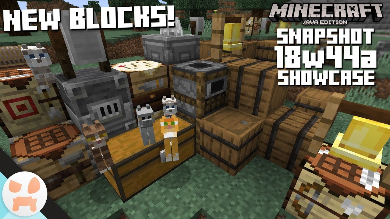 10 NEW BLOCKS AND CATS!   18w44a Snapshot Features ...