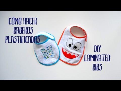 Baberos plastificados - DIY laminated bibs
