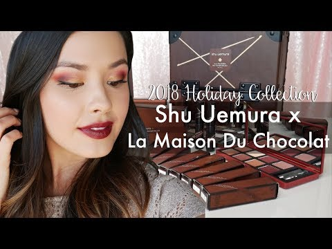 NEW 2018 Holiday Shu Uemura x La Maison Du Chocolat Collection First Impressions