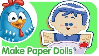 Crafting for Kids: Ping Pong Paper Doll Song | Lottie Dottie Chicken UK | Nursery Rhymes For Kids