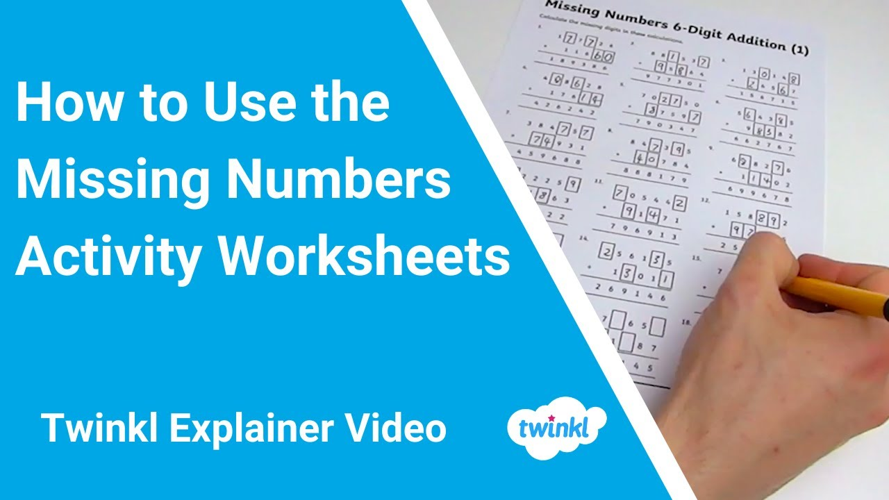 Missing Number Addition 5 Digit Number Worksheet Pack Twinkl adding digit numbers with