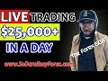 (LIVE TRADING) $25,000+ IN 1 DAY - So Darn Easy Forex ...