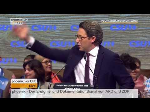 Politischer Aschermittwoch: CSU (Teil 1) u.a. mit Rede Andreas Scheuer am 14.02.18