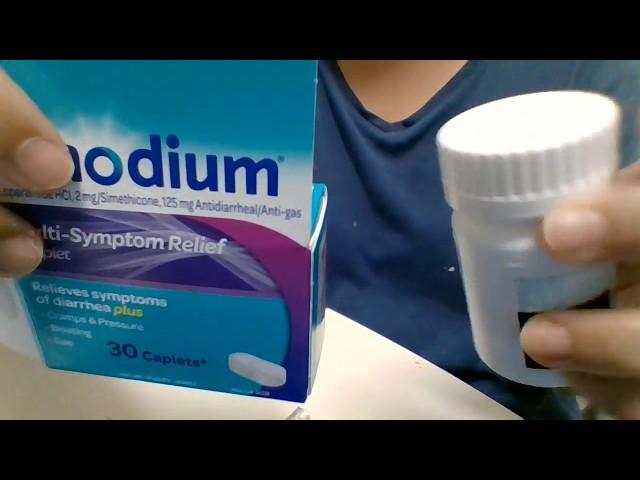 Imodium Diarrhea Medicine Unboxing - 30 Caplets, Multi-Symptom Relief Caplet