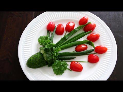 Super Vegetable Flower Decoration Ideas - Cucumber Carving Garnish