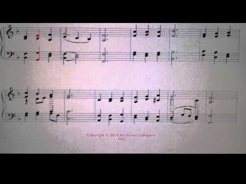 A sheet music of :praise to the lord