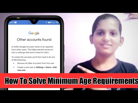 How To Solve Minimum Age Requirement Problem || In Mobile || OS