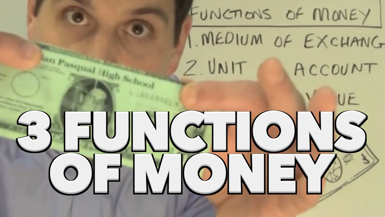 function of money in economics pdf