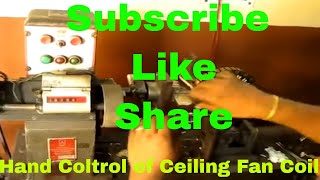 Hand control of Ceiling fan coil winding machine
