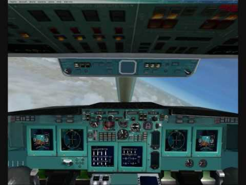 Fsx Il 96 Moscow To London Flight Youtube