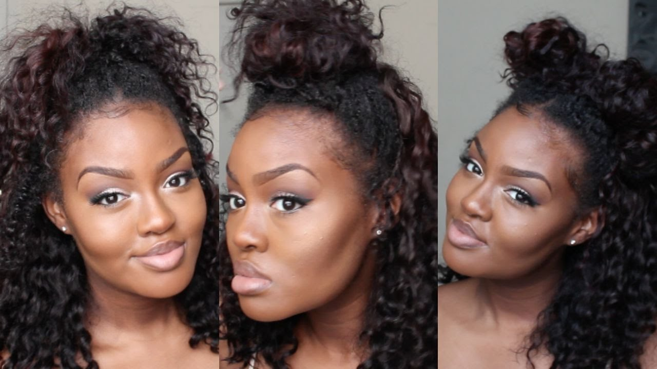 3 Styles With A Lace Front Wig Youtube