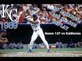 Bo Knows Baseball --Season Replay of 1989 Kansas City Royals Game127 vs California --Live Stream
