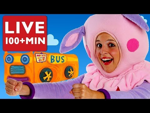 LIVE Baby Songs   Wheels on the Bus + Baby Songs by Mother Goose Club   COMPILATION   NURSERY RHYME