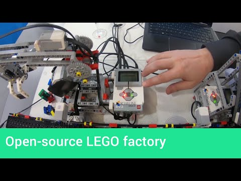A LEGO factory model showing off open-source industry control software