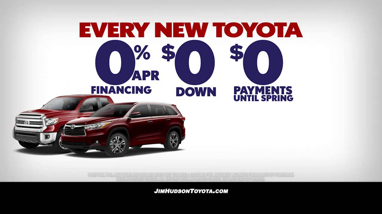 Jim Hudson Toyota Red White And Blue Tag Sale February 2016