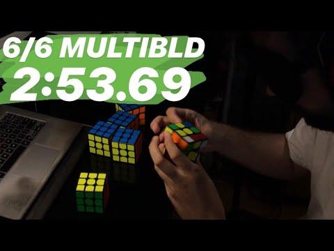 6/6 MultiBLD in 2:53.69