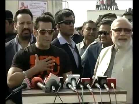 Salman Khan and Narendra Modi's Live Interview