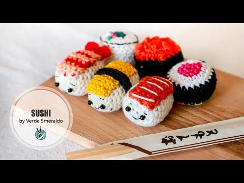 Sushi Crochet Pattern - Amigurumi Food - Ami Amour | 360x480