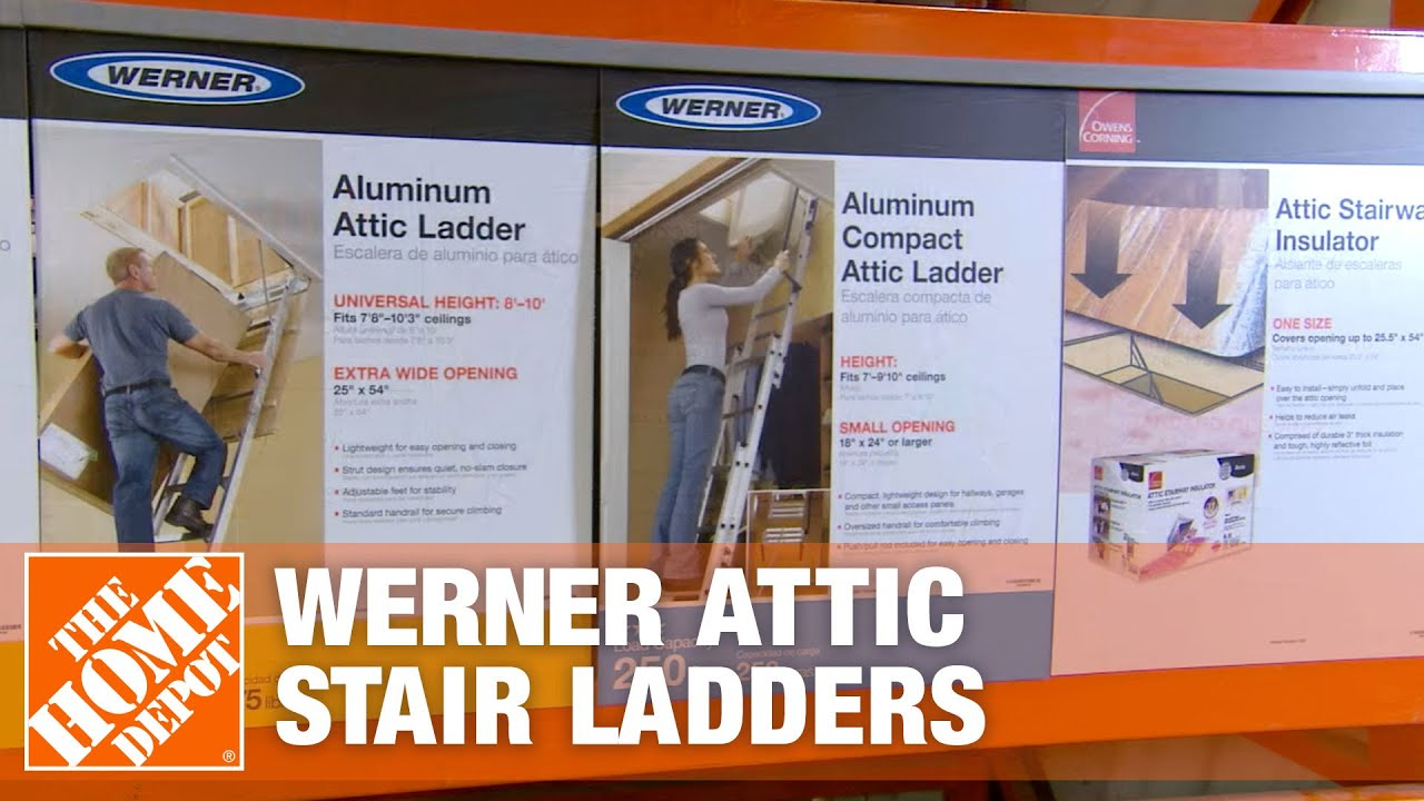 Werner Attic Stair Ladders  sc 1 st  YouTube & Werner Attic Stair Ladders - YouTube