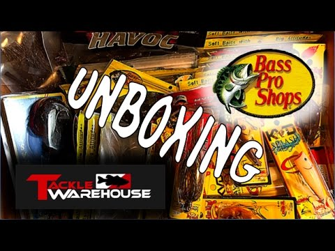 MASSIVE Tackle Warehouse and Bass Pro Shops Unboxing