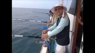 苗栗外海在世通168號遊艇式海釣船      卡通人物變態隊2014年7月4日  搞黃雞魚
