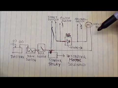 neutral safety relay wiring diagram 1983 bmw r100rs neutral switch circuit wiring youtube  1983 bmw r100rs neutral switch circuit