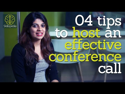 Skillopedia - 4 tips to host an effective conference call ( Telephone skills & Soft skills video)