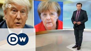 О чем Меркель будет говорить с Трампом   DW Новости (13 03 2017)