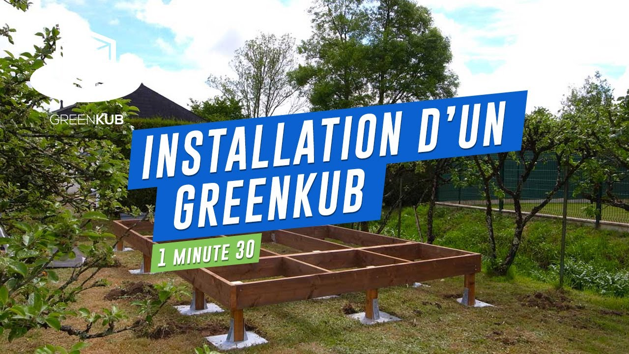 Construction d 39 un studio de jardin greenkub youtube for Permis de construire veranda 20 m2