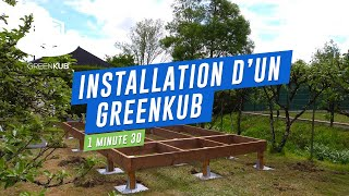 Construction d'un studio de jardin Greenkub !