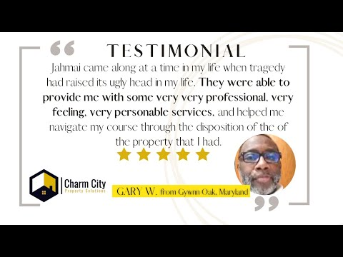Charm CIty Property Solutions Review | Sell My House Fast | Baltimore, Maryland