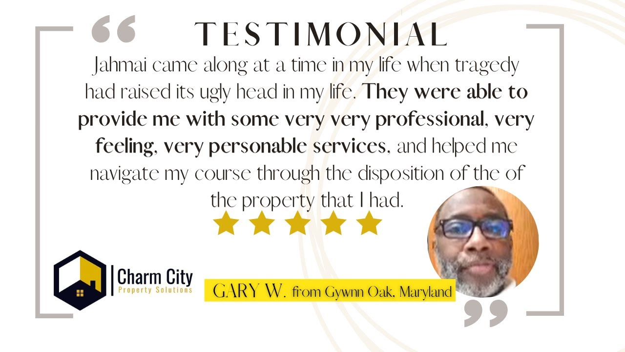 Charm CIty Property Solutions Review   Sell My House Fast   Baltimore, Maryland