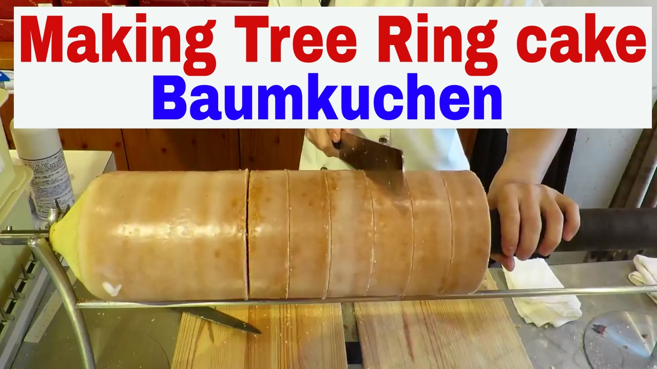 Making Tree Ring Cake Baumkuchen Youtube