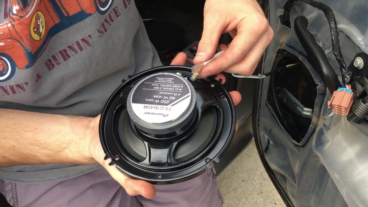 2006 Chevy Silverado Crew Cab Change Out Rear Door Speakers Without Adaptor
