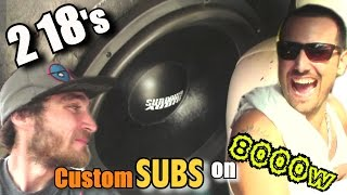 "Hybrid 18"" Subwoofer Demo w/ Kevins Awesome Sounding Stereo System // 2 LOUD BASS Songs @ Slamfest"