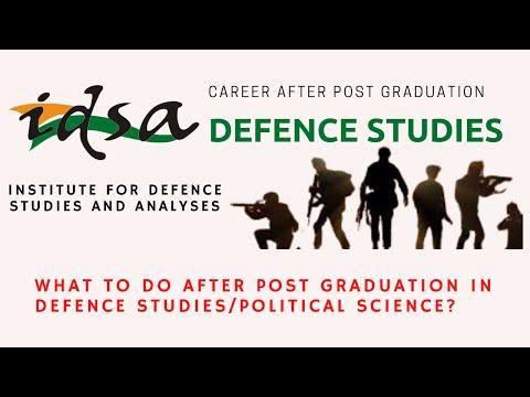 What to Do After Post Graduation | IDSA |Defence Taiyari