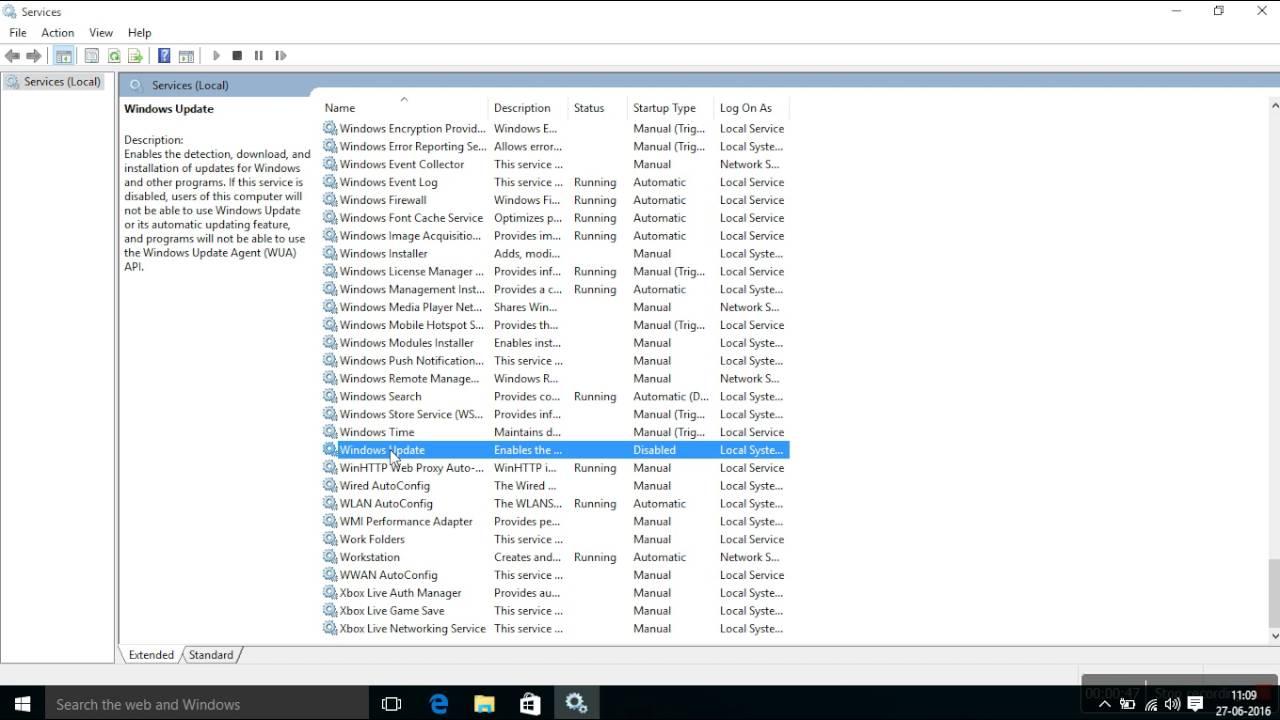 Disable windows update on windows 10 latest