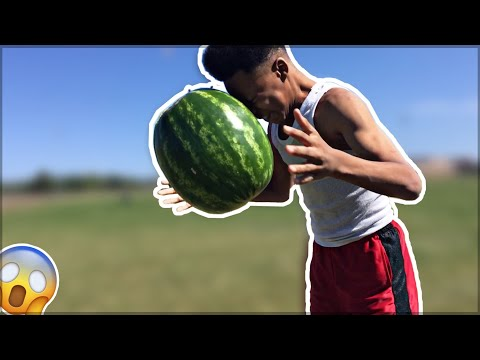 I Smashed a Watermelon With My Head !!!