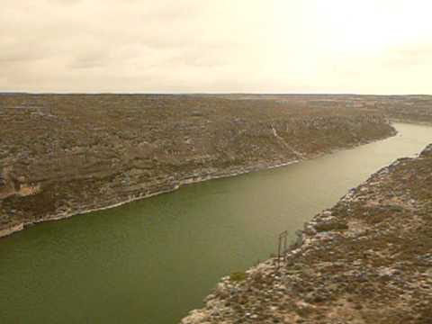 Sunset Limited Train over the Pecos River Texas - 2010 FEB