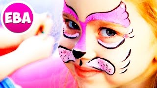 Кот, котик, киска, кошечка  :) Рисуем аквагрим #1 котёнок | Супер Ева(В этом видео Супер Ева отправилась на детский мэйкап. Аквагрим в виде котёнка, которого Ева выбрала сама..., 2016-09-06T13:18:42.000Z)