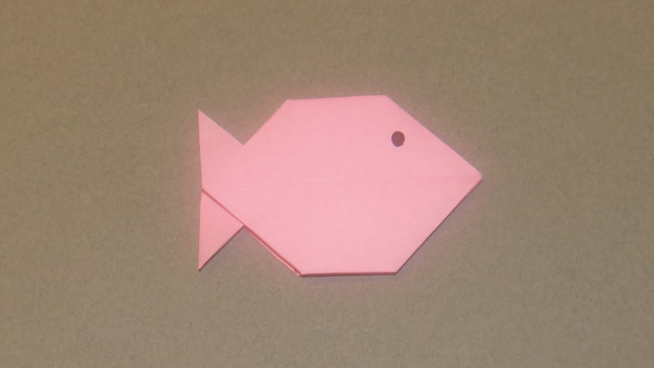 How To Make An Origami Fish 05 - YouTube - photo#21