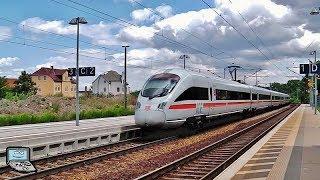 Apolda mit Hohenzollerische Landesbahn, alte RB20 mit MRCE Taurus +y-Wagen, ICEs