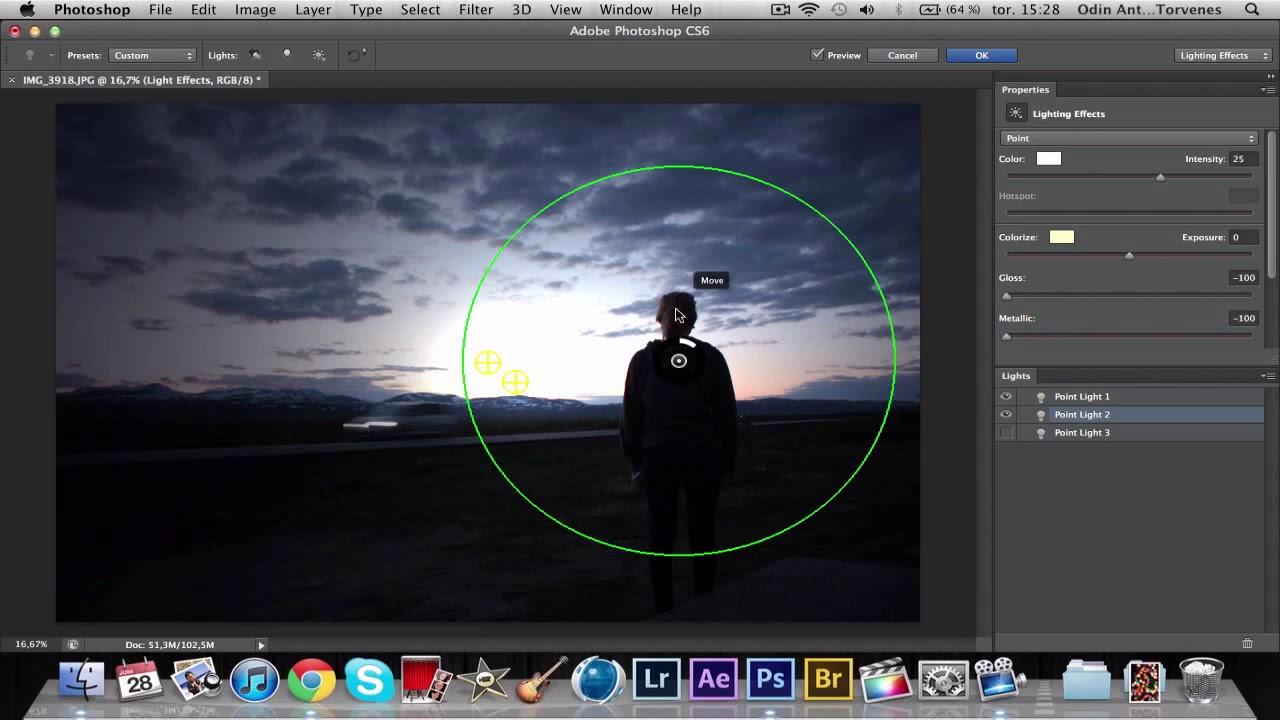 Adobe Photoshop CS6 Tutorial Lighting Effects - YouTube