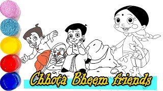 Draw Chhota Bheem cartoon speed Coloring Chhota Bheem cartoon. chota bheem bhim speed colouring
