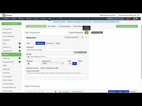 eRx and Refill Requests - DrChrono EHR Clinical Features Demo Series