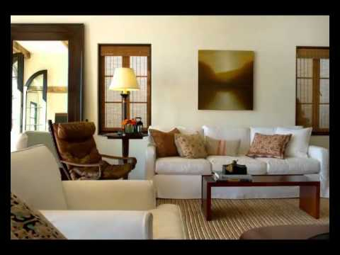 Living room paint color with brown furniture - YouTube