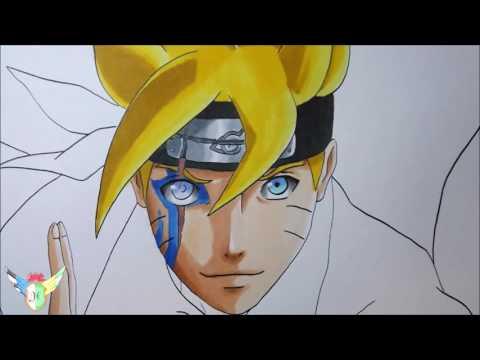 Speed Drawing Boruto Uzumaki from Boruto Naruto Next Generations