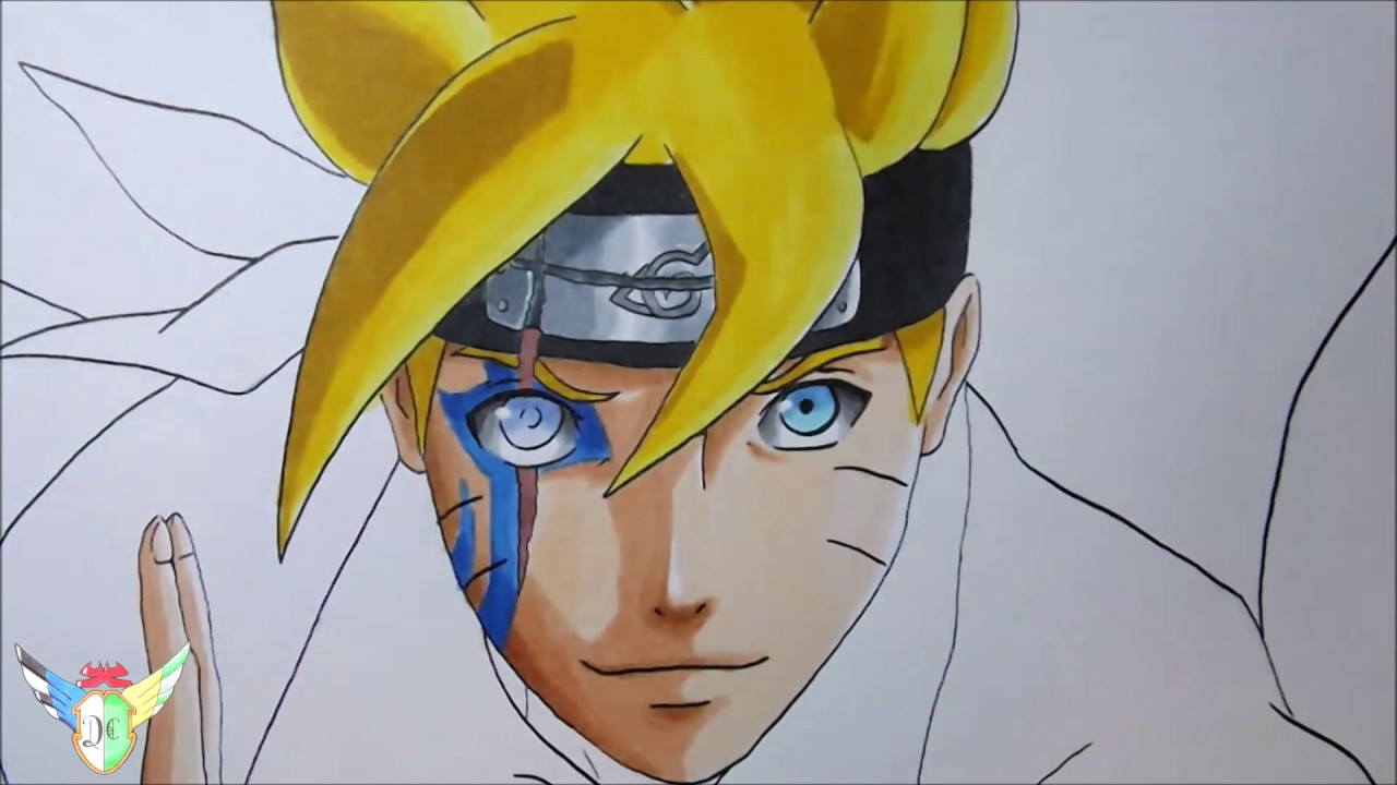 Speed Drawing Boruto Uzumaki From Boruto Naruto Next